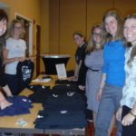Students getting SEERS t-shirts ready for sale